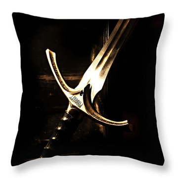 Sword Of Gandalf Throw Pillow by Christopher Gaston