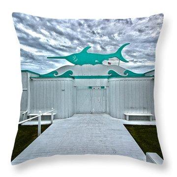 Swordfish Beach Club I Throw Pillow