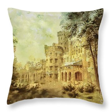 Sybillas Palace Throw Pillow by Mo T