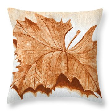 Sycamore #1 Oklahoma Red Dirt Artwork Tm Throw Pillow by Tanya Provines