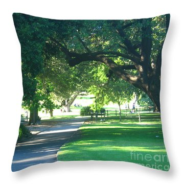 Throw Pillow featuring the photograph Sydney Botanical Gardens Walk by Leanne Seymour