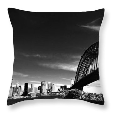 Throw Pillow featuring the photograph Sydney by Chris Cousins