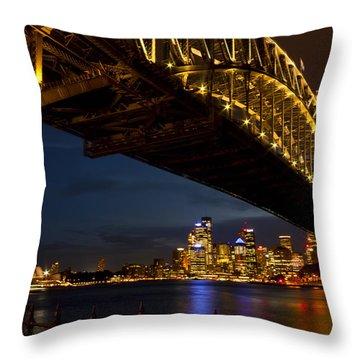 Throw Pillow featuring the photograph Sydney Harbour Bridge by Miroslava Jurcik
