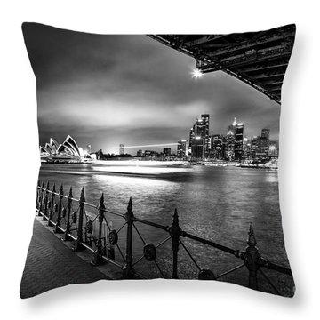 Sydney Harbour Ferries Throw Pillow