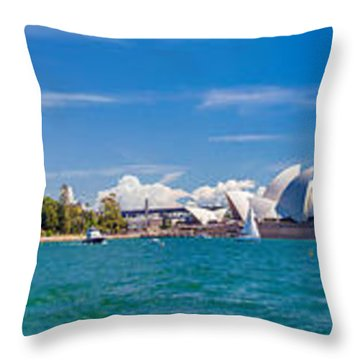Sydney Harbour Skyline 1 Throw Pillow