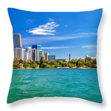 Sydney Harbour Skyline 3 Throw Pillow