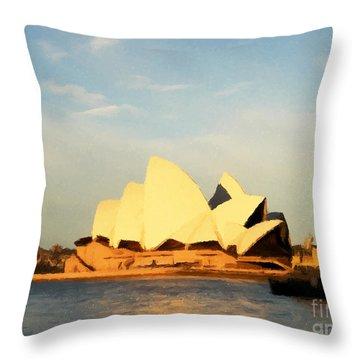 Sydney Opera House Painting Throw Pillow