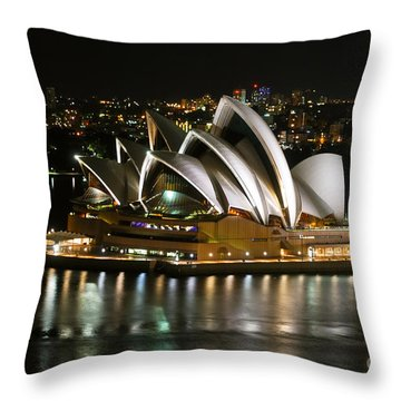 Sydney Opera Throw Pillow by Syed Aqueel