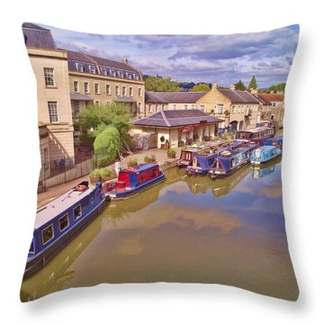 Sydney Wharf Bath Throw Pillow