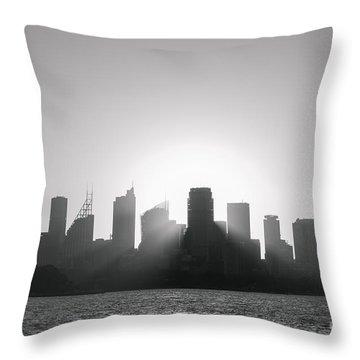 Sydney's Evening B/w Throw Pillow
