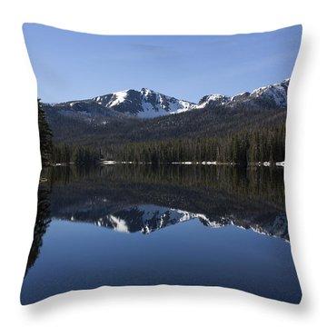 Sylvan Lake Reflection - Yellowstone Throw Pillow