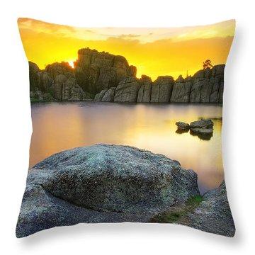 Throw Pillow featuring the photograph Sylvan Lake Sunset by Kadek Susanto