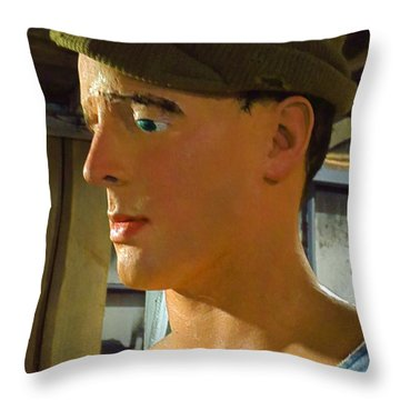 Sylvester Stallone Look-a-like. Throw Pillow