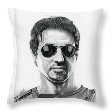 Sylvester Stallone - The Expendables Throw Pillow