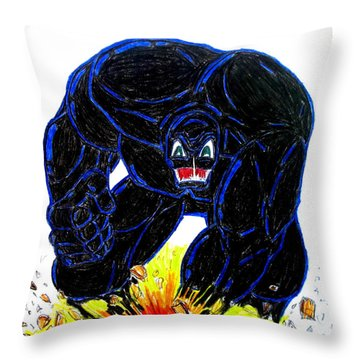 Symbiote Guy Throw Pillow by Justin Moore