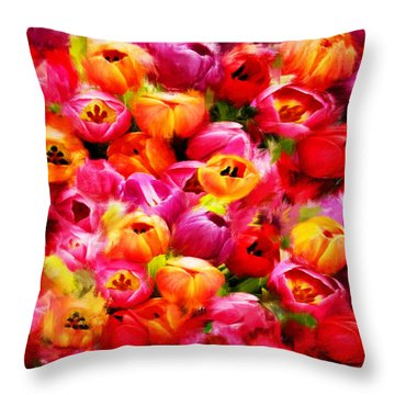 Symbol Of Love Throw Pillow by Lourry Legarde