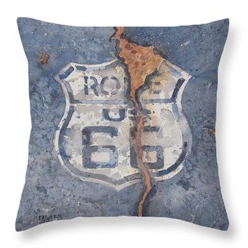 Symbol Of The Mother Road Throw Pillow