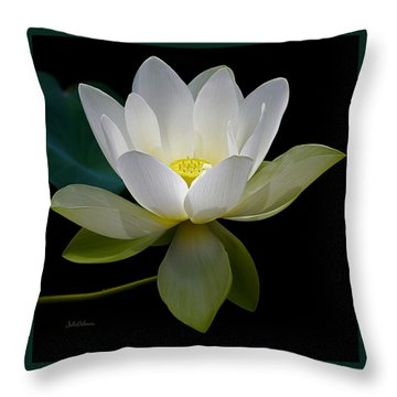 Symbolic White Lotus Throw Pillow
