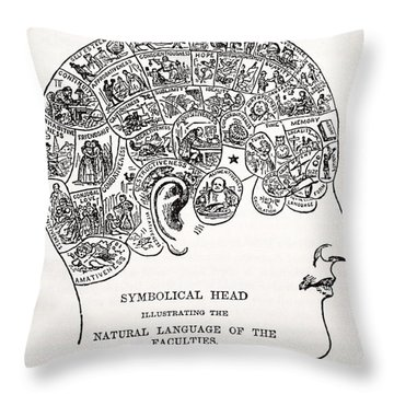 Symbolical Head Throw Pillow