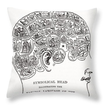 Symbolical Head Showing The Natural Throw Pillow