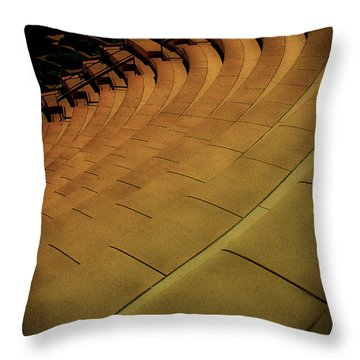 Throw Pillow featuring the photograph Symmetry Seating by Joseph Hollingsworth