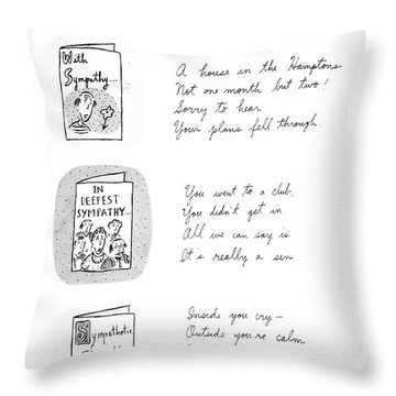 Sympathy Cards For Everyday Use Throw Pillow