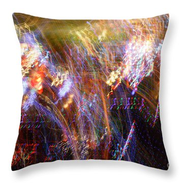 Symphonic Light Abstraction  Throw Pillow by Chris Anderson