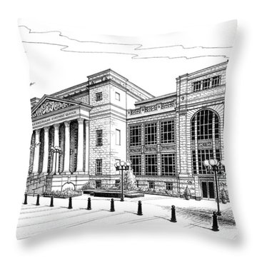 Symphony Center In Nashville Tennessee Throw Pillow