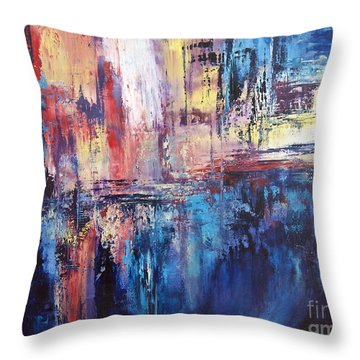 Symphony In Blue Throw Pillow