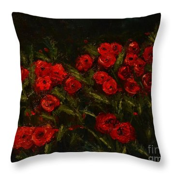 Symphony In Coquelicot Throw Pillow