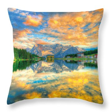 symphony in Lights  Throw Pillow