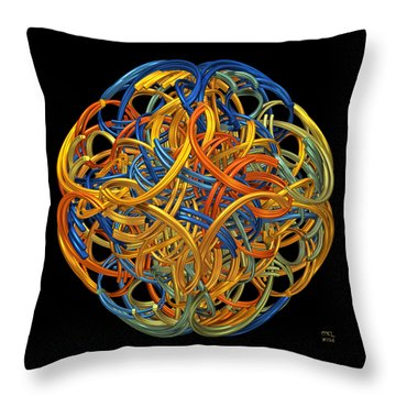 Throw Pillow featuring the digital art Symphony by Manny Lorenzo