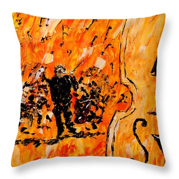 Symphony Throw Pillow by Mark Moore