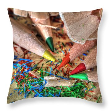 Symphony Of Color Throw Pillow by Tracy  Hall