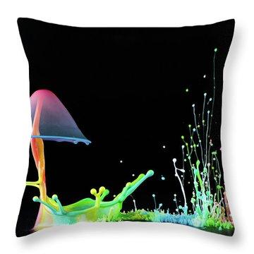 Abstract Still Life Throw Pillows