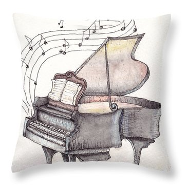 Symphony Throw Pillow by Theresa Stinnett