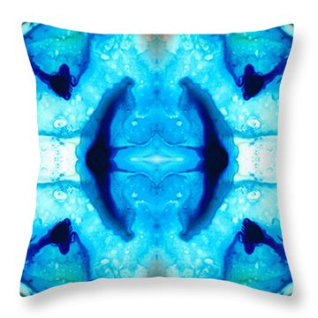 Synchronicity - Colorful Abstract Art By Sharon Cummings Throw Pillow by Sharon Cummings