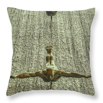 Synchronized Divers Throw Pillow