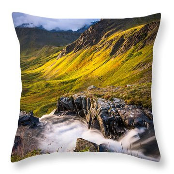 Synclavier Foothills Throw Pillow