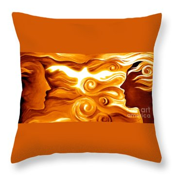 Synergy In Love Throw Pillow