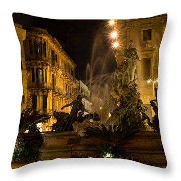 Syracuse - Diana Fountain  Throw Pillow