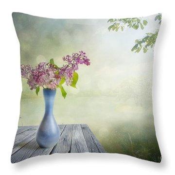 Syringa Throw Pillow by Veikko Suikkanen