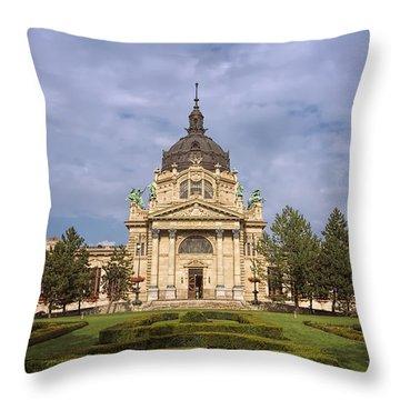 Szechenyi Baths Budapest Hungary Throw Pillow