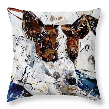 T-bone Throw Pillow by Suzy Pal Powell
