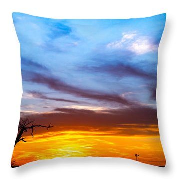 T For Texas  Throw Pillow