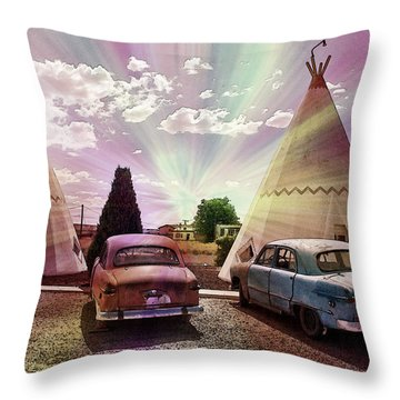 T-pee Retro Throw Pillow by Matthew Bamberg