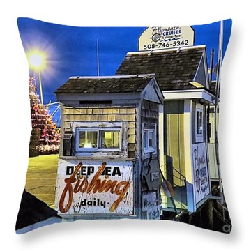 T Wharf Plymouth Massachusetts  Throw Pillow