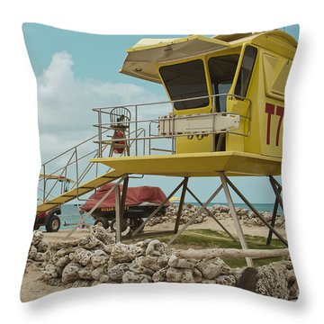 T7 - Baldwin Beach Park Maui Throw Pillow by Sharon Mau