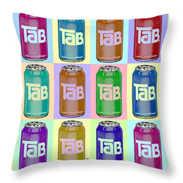 Tab Ode To Andy Warhol Repeat Horizontal Throw Pillow