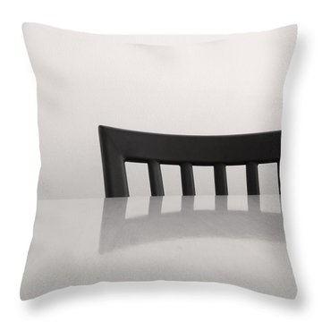 Table And Chair Throw Pillow by Don Spenner